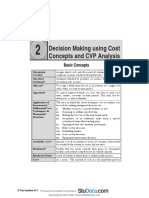 Decision Making using cost concept and CVP Analysis