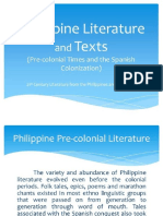 1. Philippine Literature during the Precolonial Period