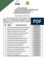 CRONOGRAMA DE CONVOCAÇÃO - PROVA PRÁTICA PARA O INGRESSO AO CURSO AVANÇADO DE LIBRAS 2020.1