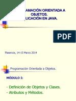 Programación Orientada a Objetos. Aplicación en JAVA