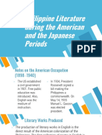 3. Philippine Literature during the American and the Japanese Periods