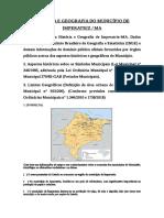 TREZENTÃO DE GEOGRAFIA E HISTÓRIA DE IMPERATRIZ