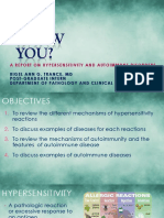 Hypersensitivity and Auto-immune Disease