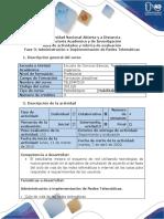 Guía de actividades y rubrica de evaluación - Fase 3 - Administración e Implementación de Redes Telemáticas.pdf