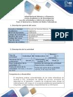 Guía de actividades y rubrica de evaluacion - Fase 4 - Operación y Gestión de Redes Telemáticas
