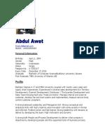 Abdul Awet CV-1