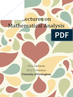 Lectures on Mathematical Analysis Nottingham