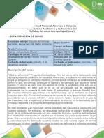 Syllabus Curso Antropología (Rural)