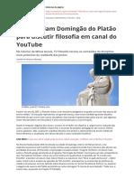 MENEZES, Uanderson. alunos criam domingão do Platão-para-discutir-filosofia no youtube