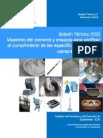 Boletn Tcnico ICCG - 11 Muestreo del cemento y ensayos de verificacin.pdf