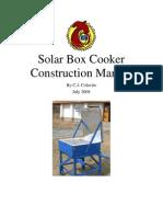 Solar Cooker Construction