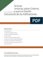 Normas Técnicas Complementarias sobre Criterios y Acciones para diseño en edificaciones