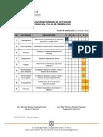 Cronograma Semanal de Actividades - Gerencia General