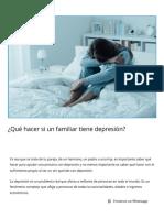 ¿Qué hacer si un familiar tiene depresión_