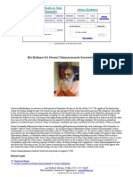 His Holiness Sri Swami Chinmayananda Saraswati Maharaj