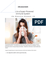 Tips to a Super-Powered Immune System – CBD Natural Health