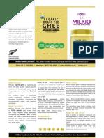 Organic Ghee Brochure   Milkio Foods
