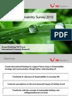 TUI Travel Sustainability Survey 2010