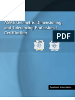 ASME Geometric Dimension Ing and Tolerance Professional Certification