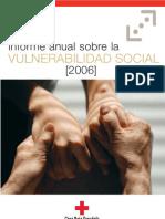 Informe anual sobre la vulnerabilidad social 2006 de Cruz Roja