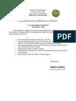 BCPC Accomplishment Report