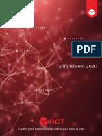 202001 Rct Cables Tarifa Febrero 2020