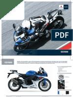 Manual Especificaciones GSXR600