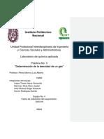 Práctica 3 Determinación de la densidad de un gas