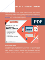 Things to Add in a Successful Website Packages   Infotech Aus