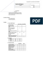 Form HSE-3, Monthly HSE Report