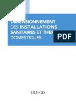 Dimensionnement des installations sanitaires