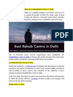 Rama Rehab Rehabillation Centre in Delhi
