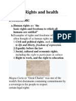 Human rights and health