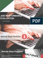 job performance evaluation - Novi Andriani.pptx