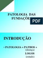 PATOLOGIA  DAS  CONSTRUÇÕES introdução