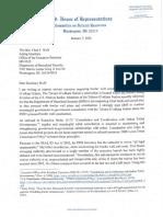 Rep. Raúl Grijalva DHS Border Wall Construction Letter