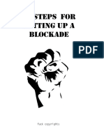 10 steps for putting up a blockade