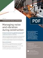 Thompsons Road Noise Vibration Factsheet