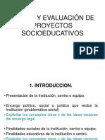 Diseño y evaluación de proyectos educativos