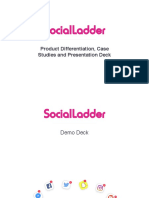SocialLadder Festival Deck with case studies and product differentiation