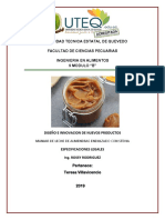 ESPECIFICACIONES LEGALES MANJAR DE ALMENDRAS