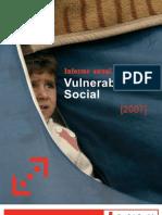 Informe anual sobre la vulnerabilidad social 2007 de Cruz Roja