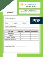 CLAVE DE RESPUESTA_Examen_Trimestral_Tercer_grado_Bloque_II_2019-2020