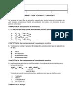 evaluacion icfes reacciones quimicas