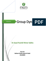 Group dynamics Assignment