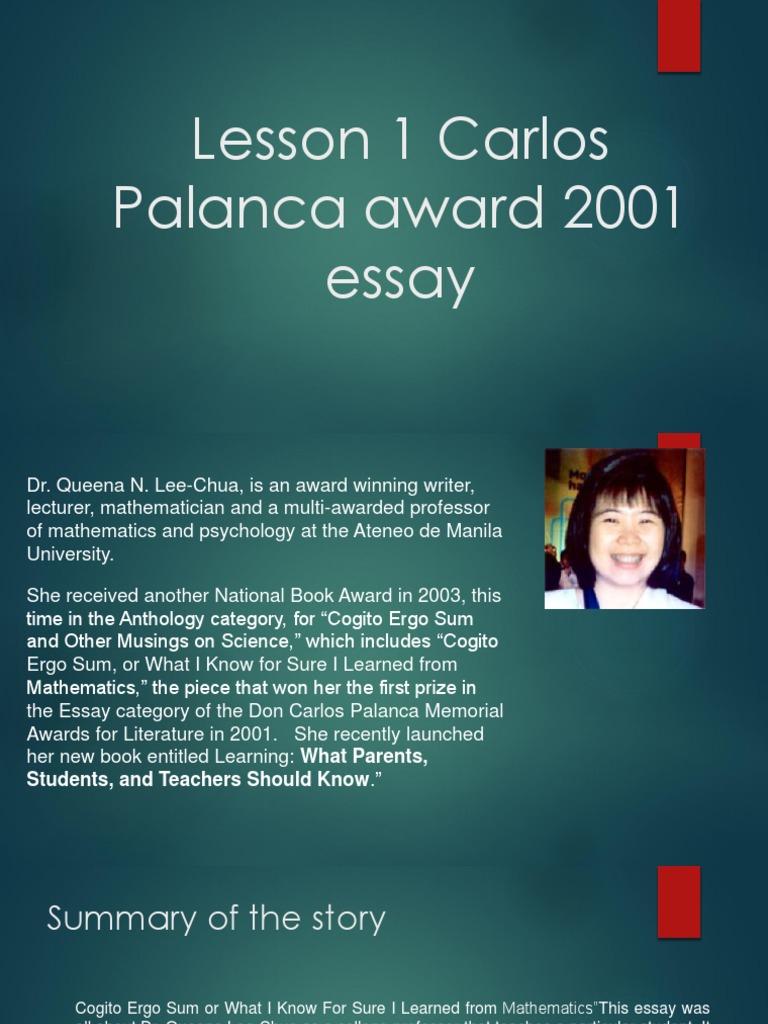 Palanca winning essays graduate admissions essays donald asher download free