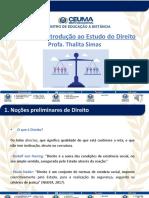Slide narrado - Direito Público e Privado - Unidade I