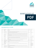 RAKEZ List - Business Activity List Free Zone (English)(Istiyak emailed ...
