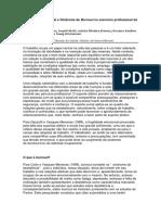 Estresse ocupacional e Síndrome de burnout no exercício profissional da psicologia