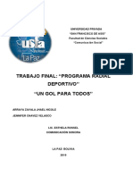 Producción de Programa Radial